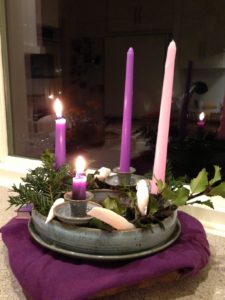 one family s advent wreath. Black Bedroom Furniture Sets. Home Design Ideas